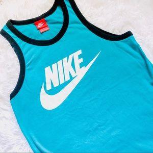 NIKE • Turquoise + White Tank Top • Size Small.